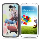 ENKAY Sofa Model Pattern Protective Plastic Back Case for Samsung Galaxy S4 i9500 - Multicolored