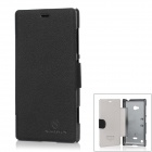 NILLKIN Protective PU Leather Case for Nokia Lumia 720 - Black