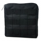 Convenient Multifunctional Water-resistant Outdoor Zipper Bag - Black