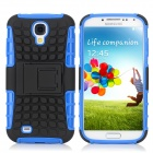 Stylish Protective TPU + PC Back Case w/ Stand for Samsung Galaxy S4 i9500 - Blue + Black