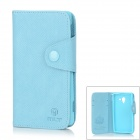 MLT Protective PU Leather Case for Sony L35h Xperia ZL - Sky Blue