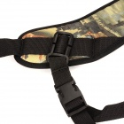 I-CG Twig Pattern Professional Carrying Shoulder Strap for SLR & ILDC Camera - Black + Olive