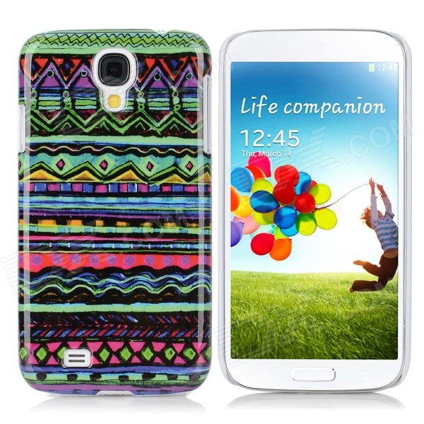 Oil Painting Style Protective Plastic Back Case for Samsung Galaxy S4 i9500 - Multicolor protective cute spots pattern back case for samsung galaxy s4 i9500 multicolored