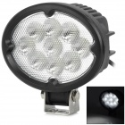 27w 2100lm 6500K 9-Cree LED White Light Work Flood Light - Black