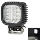 48w 4320lm 6500K 60 Degree White Light Car Work Lamp w/ 16-Cree LED - Black