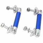 Car Aluminum Alloy Anti Roll Bar Drop Link - Blue + Silver (2 PCS)