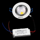 Resch Dayton 5W 4100K 475~525lm 1-LED Warm White Ceiling Lamp - White + Silver  (AC 85~245V)