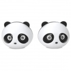 Cute Panda Style Lavender Scent Car Air Refresher Set - White + Black (2 PCS)