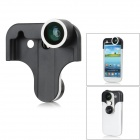4-in-1 Front / Rear Camera Fish Eye Lens + Macro Lens + Wide Angle Lens for Samsung Galaxy S3 i9500