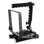 F & V Foldable Rig Movie Kit Shoulder Mount Spider Steady Rig for Camera Shot - Black + Blue