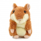 YSDX-812 Video Version Mimicry Pet Talking Hamster Plush Toy for Kids - Brown + Light Yellow + Pink