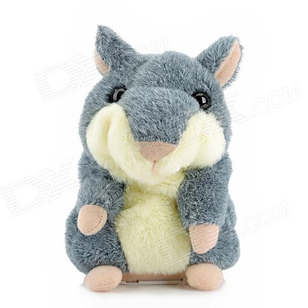 YSDX-811 Video Version Mimicry Pet Talking Hamster Plush Toy for Kids - Grey + Light Yellow + Pink ysdx 811 video version mimicry pet talking hamster plush toy for kids grey light yellow pink