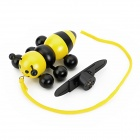 Solar Powered Wooden Bee Toy - Yellow + Black