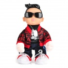 Unique PSY Style Music Dancing Doll Toy - Black + Red + White + Deep Blue + Beige (3 x AA)