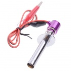 Upgraded Electronic Glow Plug Starter Igniter for Nitro R/C Car Boat Helicopter - Purple + Silver