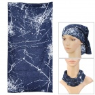 Multifunction Outdoor Cycling Polyester Seamless Head Scarf for Men - Dark Blue