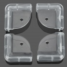 Anti-Collision Safe Silicone Table Corners - Transparent (4 PCS)