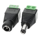 Female + Male DC Power Connector for Video Surveillance (Pair / DC 12V)
