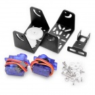 2 9G Servos Bracket Sensor Mount Pan / Tilt Kit for Gyro - Translucent Blue