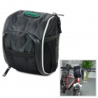 B-soul Bike Bicycle Cycling Front Handle Oxford Cloth Saddle Bag - Black