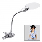 2X / 4X Desktop 2-LED White Light Magnifier w/ Flexible Neck + Clip - Silver (4 x LR1130)