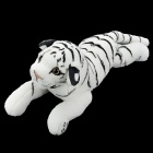 Cute Cartoon Tiger Style Plush Toy - White + Black