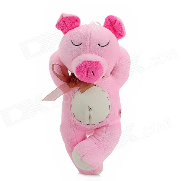 Cute Sleeping Pig Plush Toy w/ Suction Cup - Pink(SKU 214099)