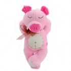 Cute Sleeping Pig Plush Toy w/ Suction Cup - Pink