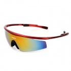NBIKE 0943 UV400 Protection Revo Red Resin Lens Cycling Sunglasses - Wine Red