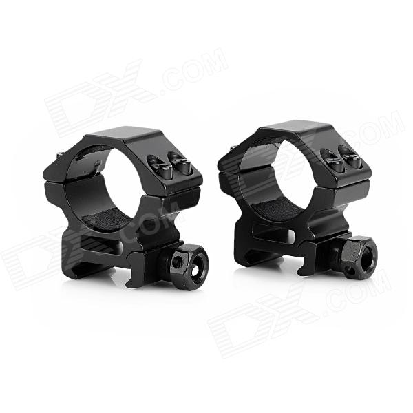 25mm Aluminum Alloy Gun Mount Holder Clip Clamp for Flashlight - Black ( 2 PCS) 10pcs m3 aluminum column 6 10 15 25mm 20mm 28mm 30mm 35mm round aluminum alloy pillar standoff spacer fastener anti slip for rc
