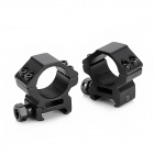 25mm Aluminum Alloy Gun Mount Holder Clip Clamp for Flashlight - Black ( 2 PCS)