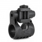 Folding Flashlight Mount Holder for 20mm Gun Rail - Black