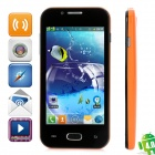 "Z7 Dual-Core Android 4.0 GSM Bar Phone w/ 4.0"" Capacitive Screen, Quad-Band and Wi-Fi - Orange"