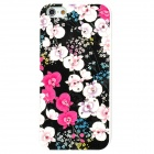 IPSKY Rhinestone Relief Painted Flowers Pattern Protective PC Back Case for Iphone 5 / 5s - Multicolor