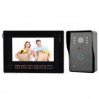 "901MJREC11 Rainproof 4-CH 9"" TFT Color Touch CMOS Visible Doorbell w/ 6-LED Night Vision / 2GB SD"