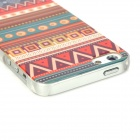 Tribal Ethnic Design Protective Plastic Back Case for Iphone 5 - Multicolor