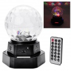 CB01 20W Recharageable Sound Control LED 7-Mode Color Changing Magic Ball Lamp - Black + Translucent