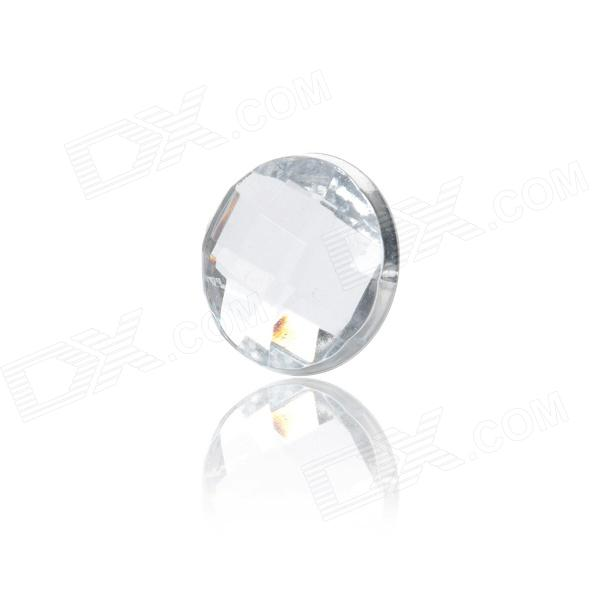 Stylish Crystal Home Button Sticker for Iphone 4S / Iphone 5 - Silver White