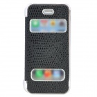Snakeskin Pattern Protective Electroplating PC Case for Iphone 5 - Black