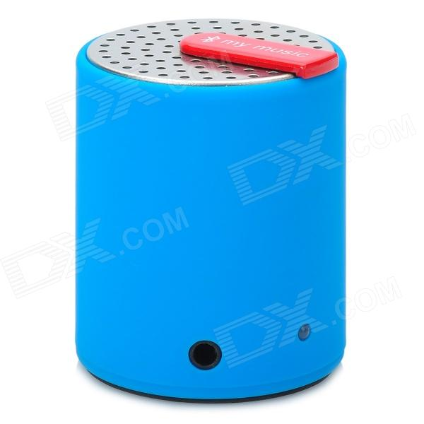 KTS-07 Stylish Mini Bluetooth V2.0 2.0W Stereo Speaker for Iphone / Ipad - Silver + Blue + Black