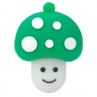 Cute Cartoon Mushroom Shape USB 2.0 Flash Drive Disk - Green + White (4GB)