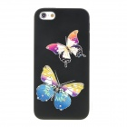 IPSKY Two Butterflies Relief Style Rhinestone PC Back Case for Iphone 5 / 5s - Black