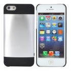 AMT-BRS-021 External 2100mAh Power Battery Charger Back Case for iPhone 5 - Silver + Black
