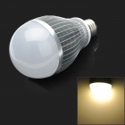 KD-QP-12W-01-NBG E27 12W 600lm 3500K 12-LED Warm White Light Lamp Bulb - Silver + Ivory (85~265V)