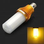 E27 15W 1400lm 3500K 260-SMD 3528 LED Warm White Light Corn Lamp - Golden + White (AC 100~250V)