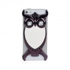 Fashion Owl Style Protective PVC Back Case for Iphone 5 - White + Black