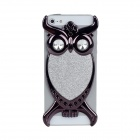 Fashion Owl Style Protective PVC Back Case for Iphone 5 - Black + Silver