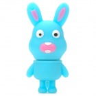 Cute Cartoon Rabbit Shape USB 2.0 Flash Drive Disk - Sky Blue + White (4GB)