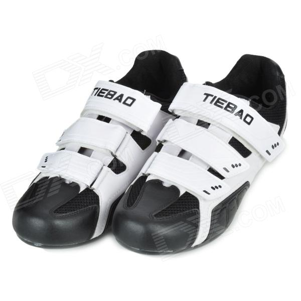 Tiebao TB02-B943 Men's Outdoor Sports Cycling Shoes - Black + White (Pair / Size-42)