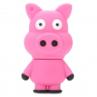 Cute Cartoon Pig Shape USB 2.0 Flash Drive Disk - Pink + Black (4GB)